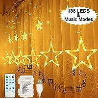 138 LEDs Luces de Cortina de Estrella, Hezbjiti