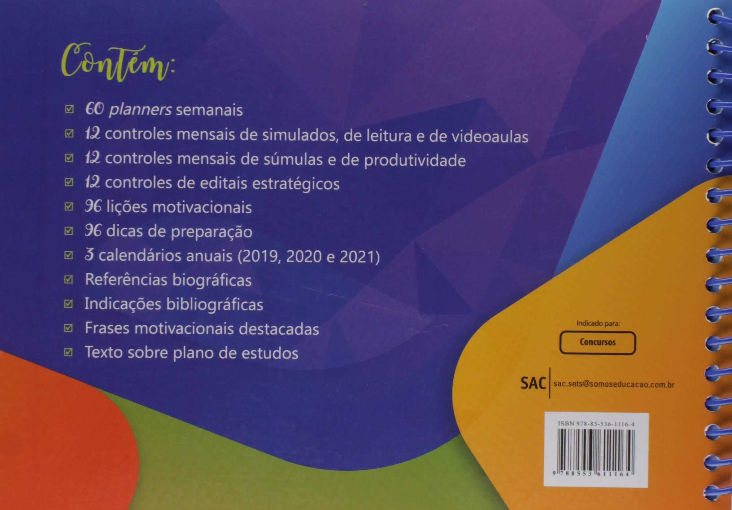 Agenda Do Concurseiro Em Portugues Do Brasil Marcelo Hugo