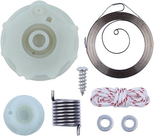 Recoil Starter Pulley Hub Spring Kit For Husqvarna 137 142 Chainsaw 530071966