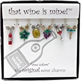 Wine Things 6-Piece Cupcake Heaven Wine Charms Painted