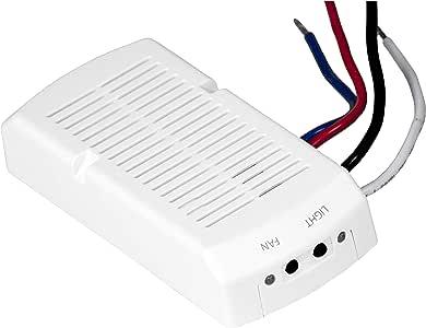 Insteon Ventilador de techo y lámpara de memoria, color blanco ...