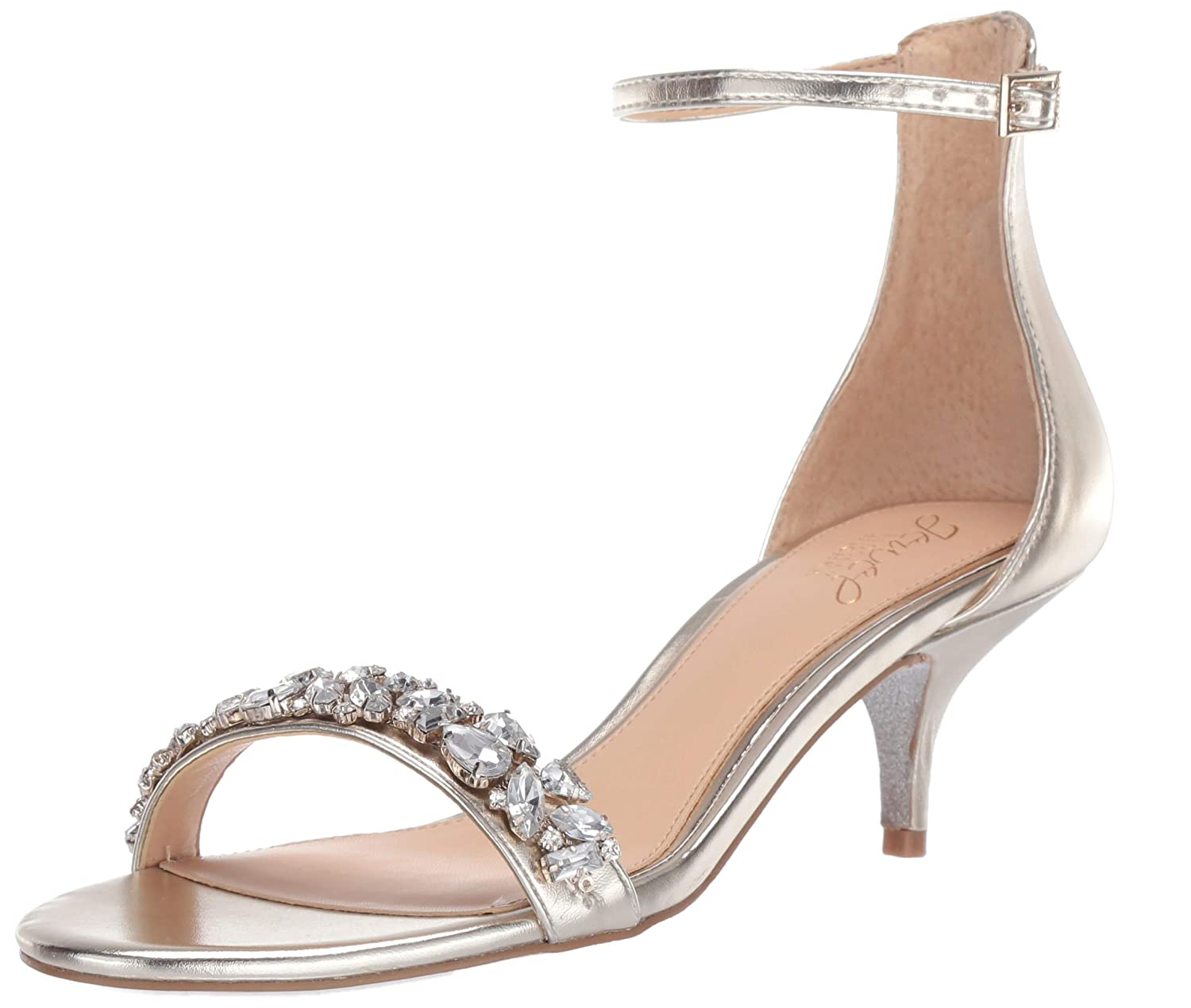 gold Metallic Badgley Mischka Womens Dash Heeled Sandal