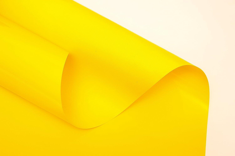B/âche de protection industrielle 3,2 m de large B/âche de protection en PVC 600 g//m/² bleu jaune au m/ètre sans /œillets vert gris