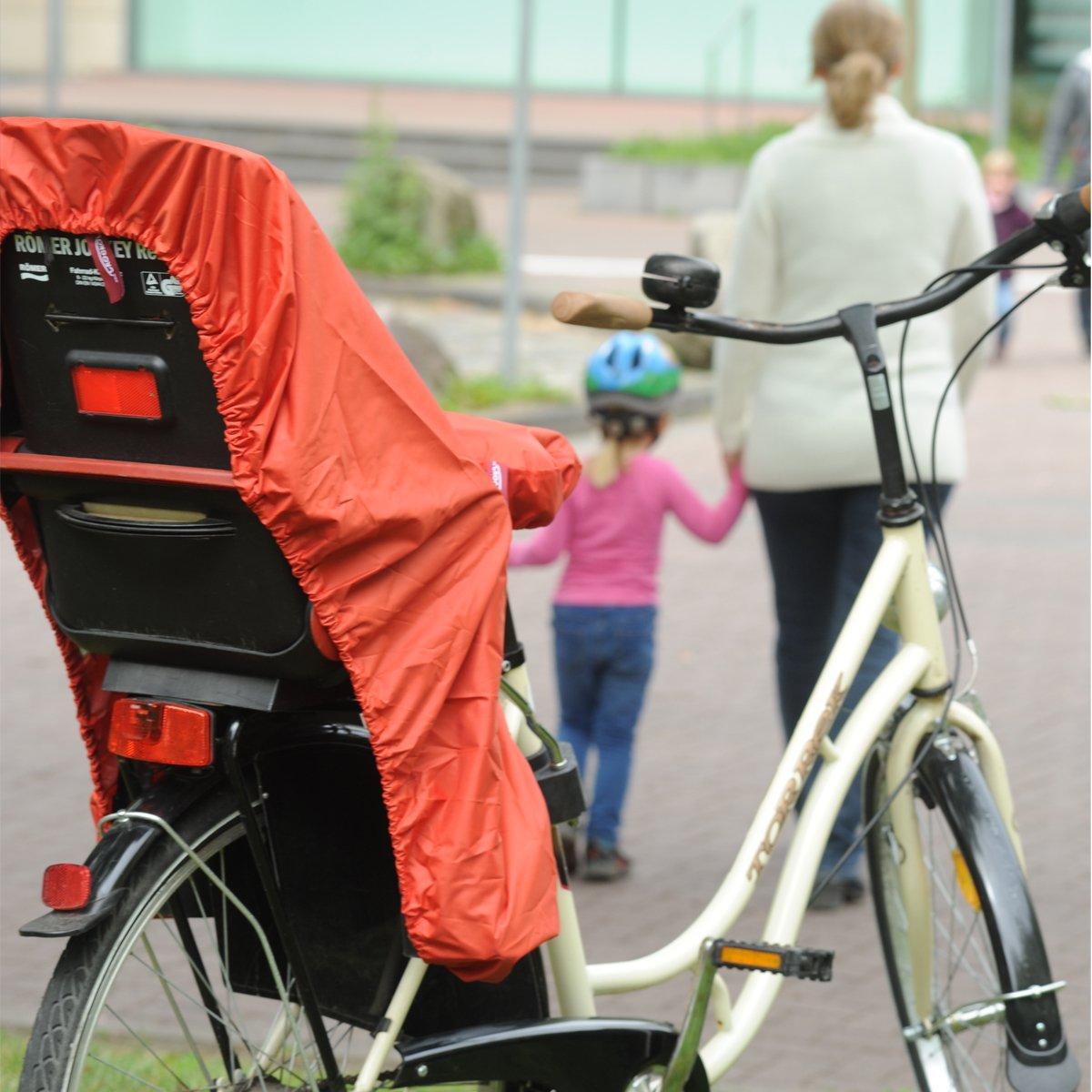 NICE N DRY blue Rain Cover for Child Bike Seats