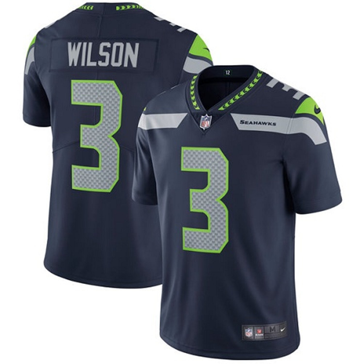 more photos 4e700 47634 NIKE Men's #3 Russell Wilson Seattle Seahawks Limited Jersey Navy Blue
