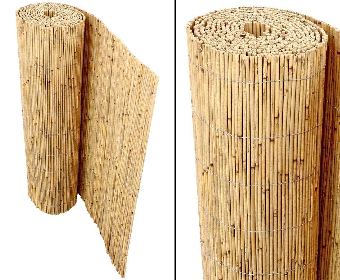 """Schilfrohrmatte als Sichtschutz /""""Beach/"""" 200 x 600cm von bambus-discount"""