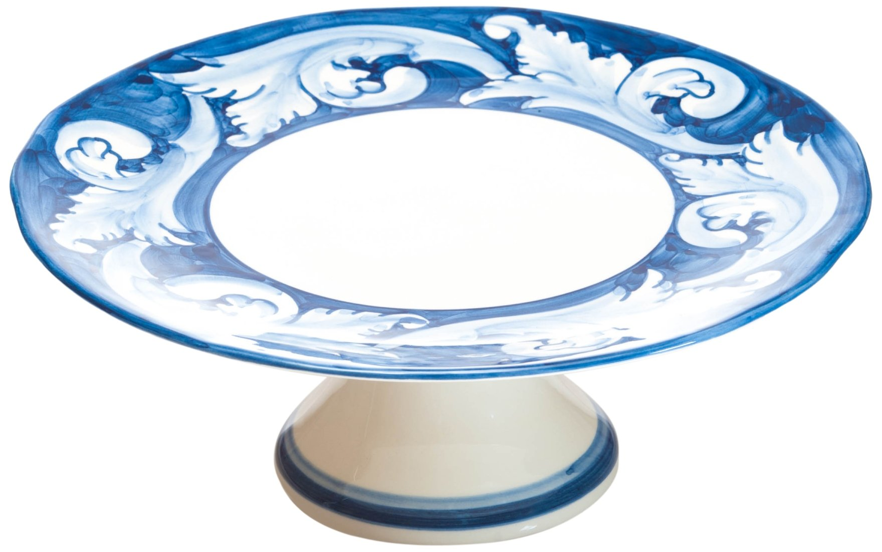 Abigails Elena Cake Plate, 11.75 by 11.75 by 4.25-Inch