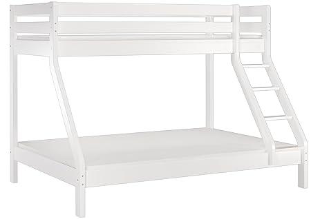 Etagenbett Holz 90x200 : Erst holz® weißes doppel etagenbett 140x200 und 90x200 kiefer