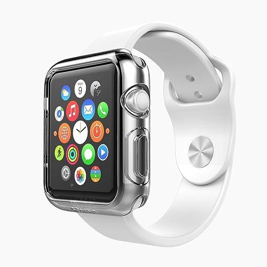 23 opinioni per [2 Pezzi] Custodia Cover Apple Watch 42mm,iVoler Custodia Protettiva Trasparente