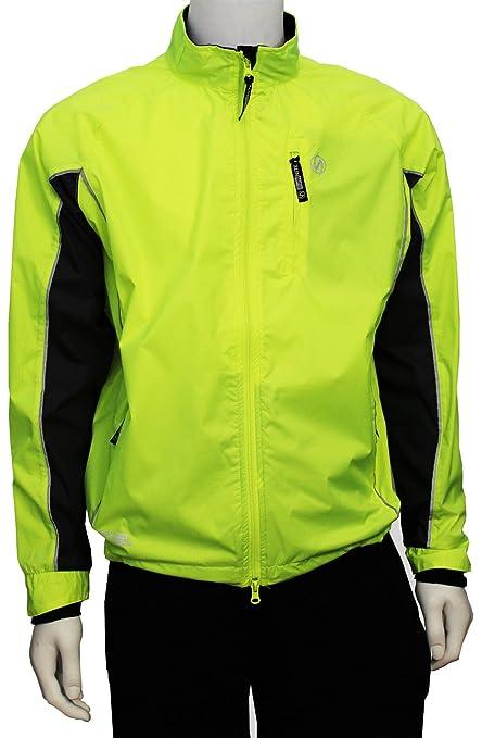 IllumiNITE Triathlon Reflective Men s Running Jacket - Flo Lime Graphite-L 56051f1f6