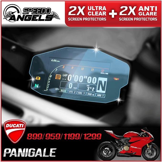 Speedo Angels Ducati Panigale 899 959 1199 1299 Dashboard Protector Bildschirm Des Cluster Instrument 4 Pack 2 X Ultra Clear 2 X Anti Glare Auto