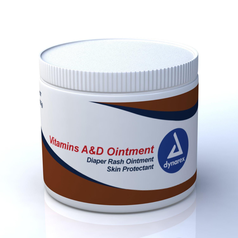 Dynarex Vitamins A&D Ointment 15 oz jar 12/Cs