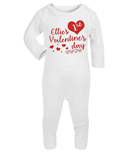 Personalised my 1st valentines day baby footless romper baby personalised my 1st valentines day baby footless romper baby gifts valentines day 2018 babywear sleepsuit baby negle Choice Image