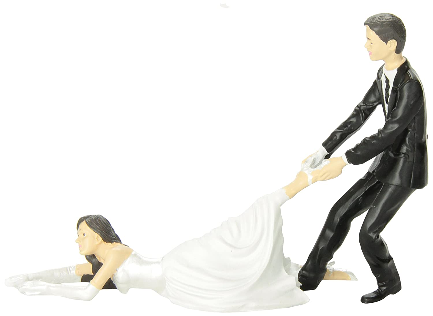 Amazon Accoutrements Reluctant Bride Cake Topper Toys Games