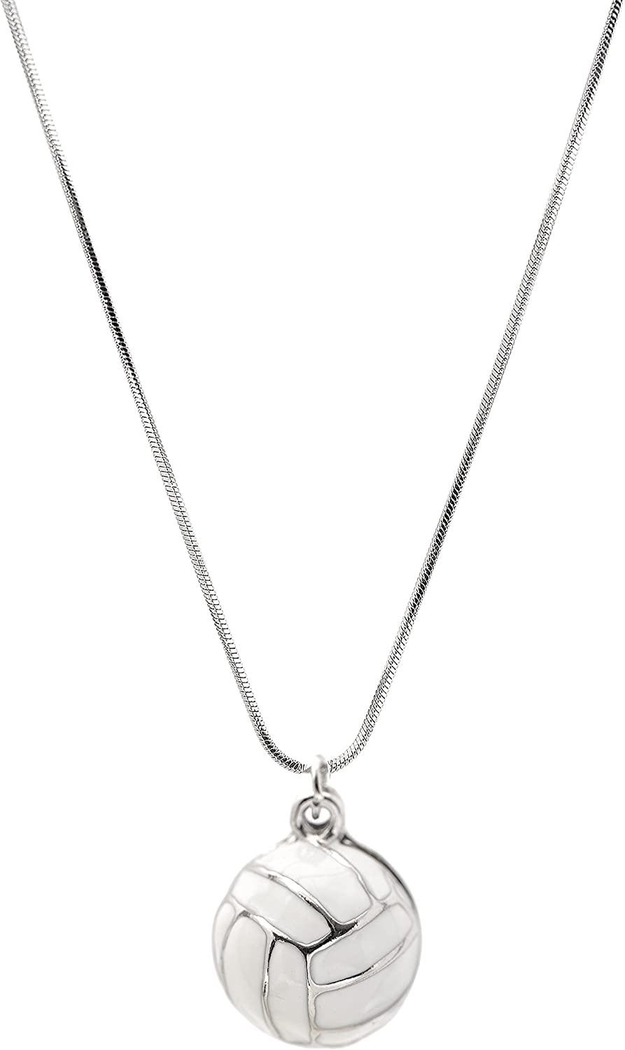 chelseachicNYC Perfect Striking White Volleyball Necklace