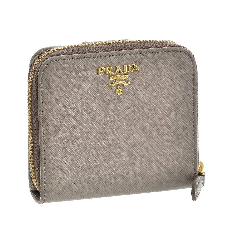 (プラダ) PRADA 財布 折財布 1ML522 QWA F0572 ARGILLA 【SAFFIANO METAL】 [並行輸入品] B07DMV16ZD