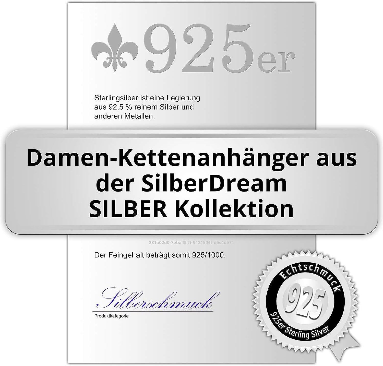 Cadena de la bola de esmalte SilberDream colgante de plata de ley 925 azul colgantes SDH601B