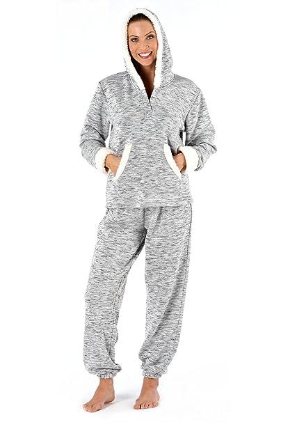 Inspirations mujer con capucha de forro polar-Pijama gris 48
