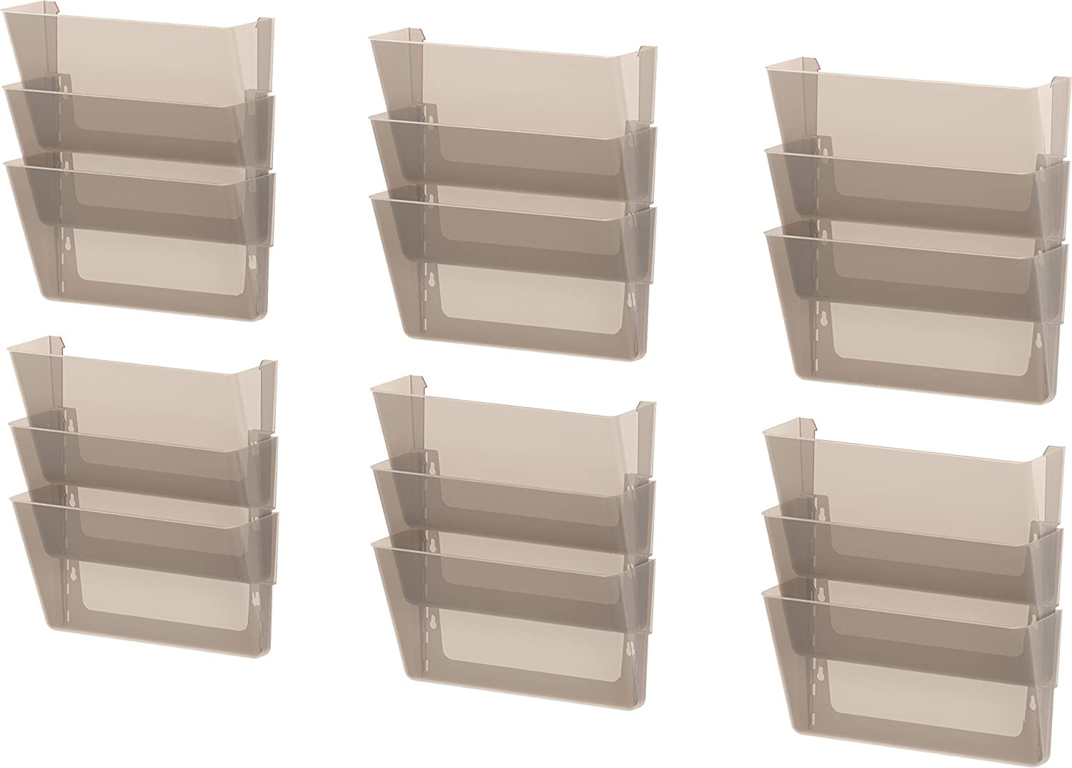 Storex Unbreakable Wall File, 16 x 4 x 7 Inches, Legal, Smoke, Case of 6 (70324U06C) Storex Industries Corp.