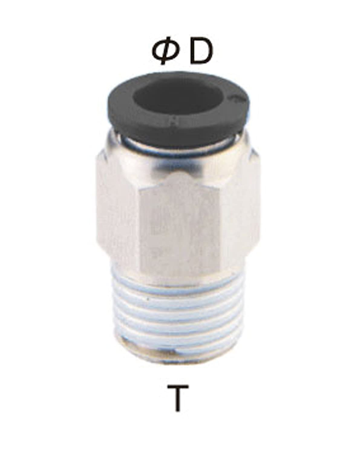 10 Pcs 1//4 Tube x 1//4 NPT push to connect fitting