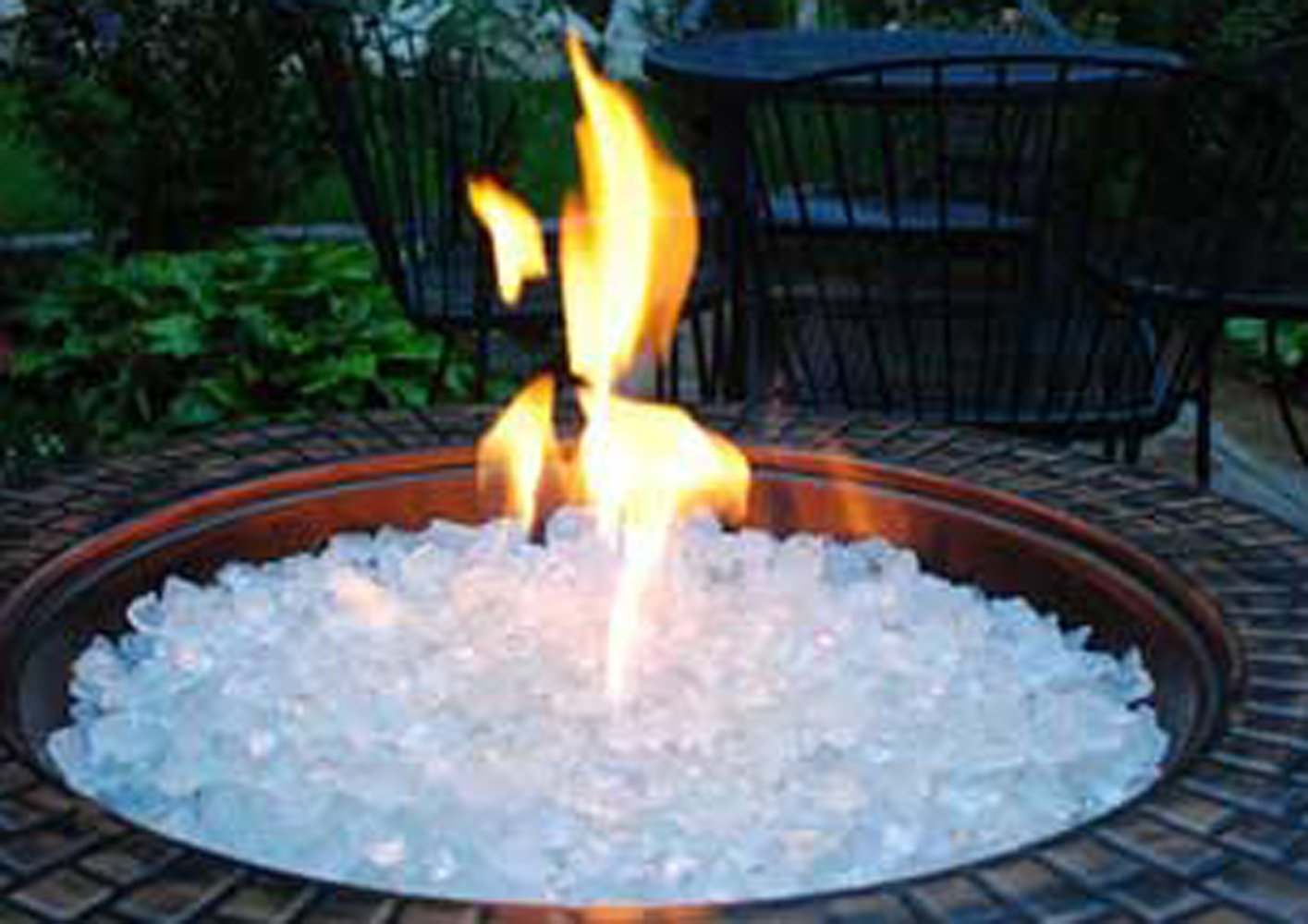 DETAILS. Fire Pit Glass Rocks For Outdoor Propane ... - Fire Pit Glass Rocks For Outdoor Propane Gas Fireplace White Ice