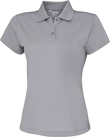 Adidas- Polo de manga corta liso corporativo para mujer: Amazon.es ...