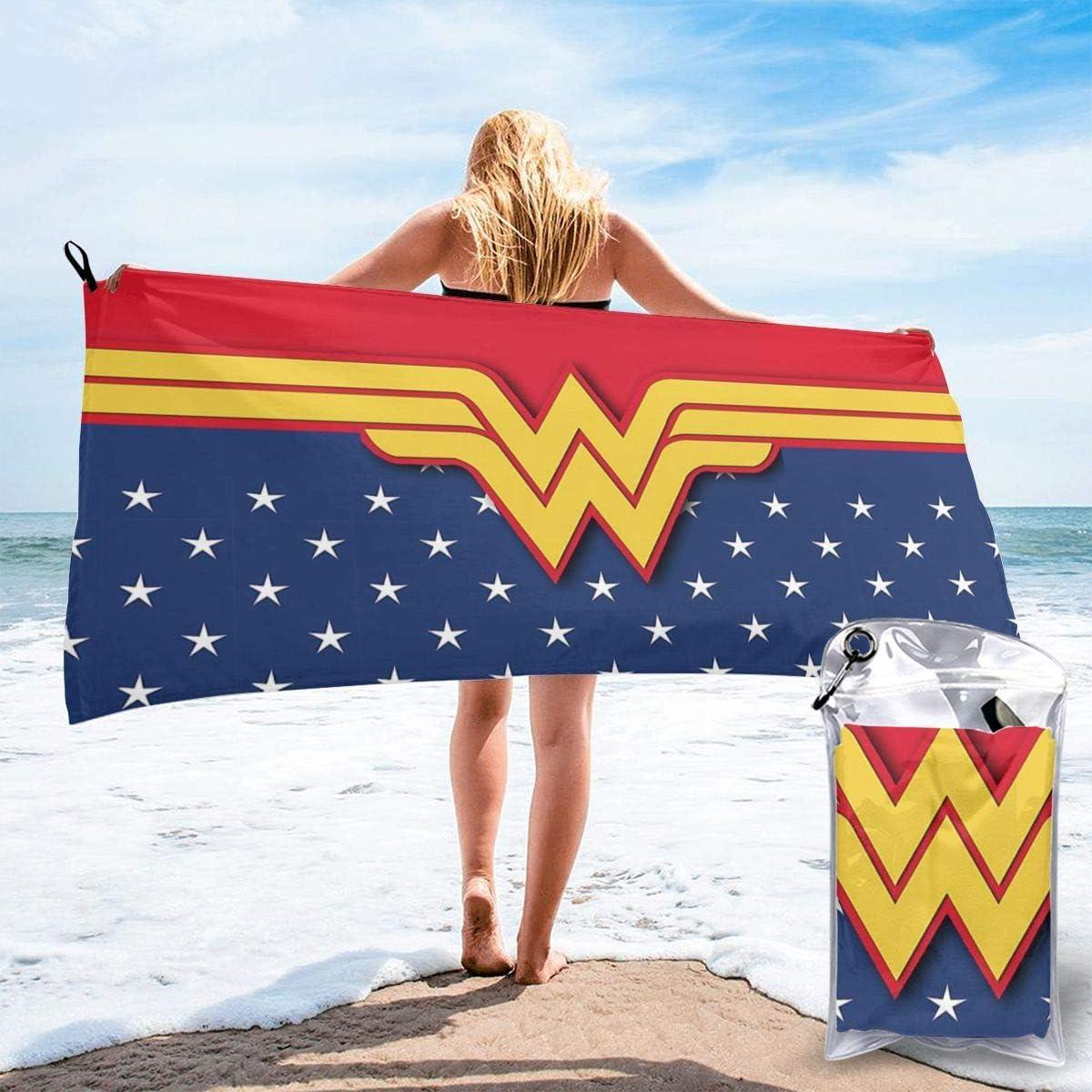 Toalla de playa Toalla de baño The Avenger Superheros Wonder Woman Toalla de playa Toalla de baño Secado rápido Viajes Playa Camping Yoga Gimnasio Toallas de piscina Toalla suave 27.5 x 55