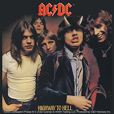C&D Visionary Licenses Products AC/DC Highway to Hell Sticker: Toys & Games