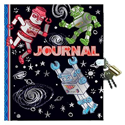eeBoo Robot Diary Journal with Lock and Key for Boys: Toys & Games