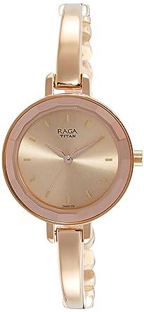 Titan Raga Viva Analog Rose Gold Dial Women S Watch 2575wm01