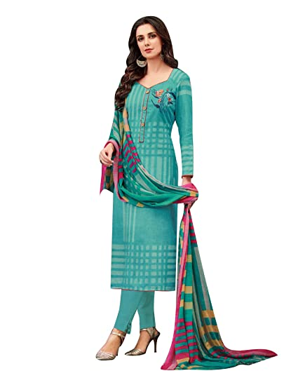 7668942472 Ladyline Pure Lawn Cotton Print & Embroidery Salwar Kameez Suit Indian  Pakistani Suit Ready to wear: Amazon.co.uk: Clothing