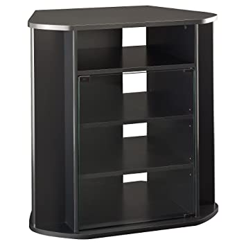 Amazon Com Bush Furniture Visions Tall Corner Tv Stand In Black