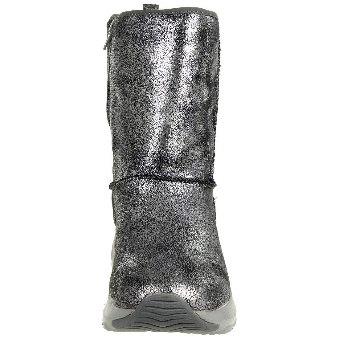 Skechers D´Lite Ultra Temp Damen Stiefel 38 Winterschuhe gefüttert Gun, Schuhgröße 38 Stiefel EU 358fa4
