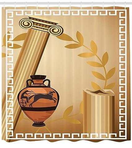 c3f58d15d1d6 Amazon.com: Ambesonne Toga Party Shower Curtain, Antique Greek ...