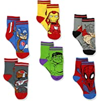 Super Hero Adventures Spider-Man Boys 6 pack Athletic Crew Socks (Baby/Toddler)