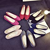 Faionny Women Shoes Soft Single Shoes Slip On Shoes Flat Ankle Boots Shallow Sandals Casual Ballerina Shoes