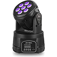 Deals on ZKYMZL Moving Head Light 7x12W RGBW Color Lighting Effect