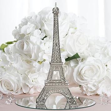 Amazon Balsacircle 10 Inch Silver Metal Eiffel Tower