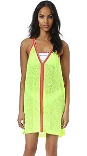 52725bba98e Pitusa Mini Pom Pom Necklace Dress Cover Up - Light Pink at Amazon ...