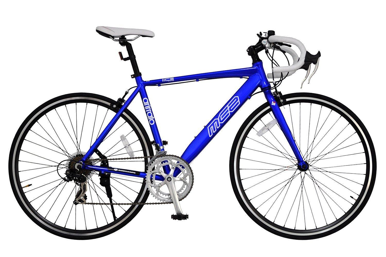 ANIMATO(アニマート) ロードバイク 14段変速 MC2 マットブラック 1年保証 B079P4F48J メタリックブルー メタリックブルー