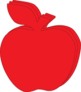 """8"""" x 10"""" Apple Single Color Super Cut-Outs, 15 Cut-Outs in a Pack for Fall, Harvest, Autumn Crafts, Back to School, Kids' School Craft Projects."""