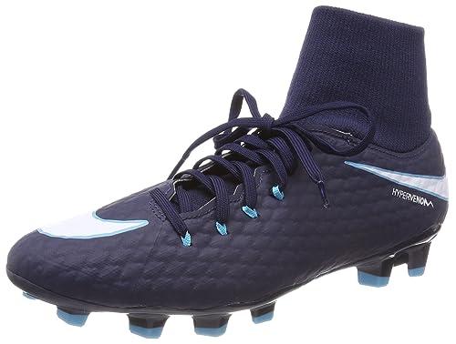 00b683ca6242 Nike Men s Hypervenom Phelon 3 Df Fg Football Boots Obsidian Gamma Glacier  Blue White