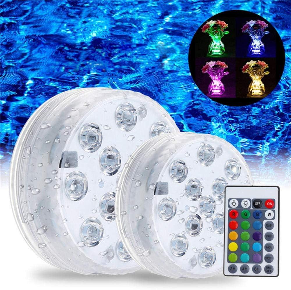 Asdflina Pasillo Escaleras Luz Nocturna LED de la Piscina subacuática Luz Remoto Multi Control de Color RGB Fuente de Luz (Color : Clear, tamaño : 8.5cm): Amazon.es: Hogar