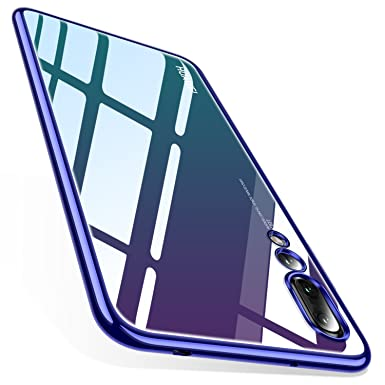 designer fashion c2607 b088e TORRAS Crystal Clear Case for Huawei P20 Pro, Ultra Thin Slim P20 Pro Case  with Stylish Edge Soft Flexible Silicone Gel TPU Bumper Case Cover for ...