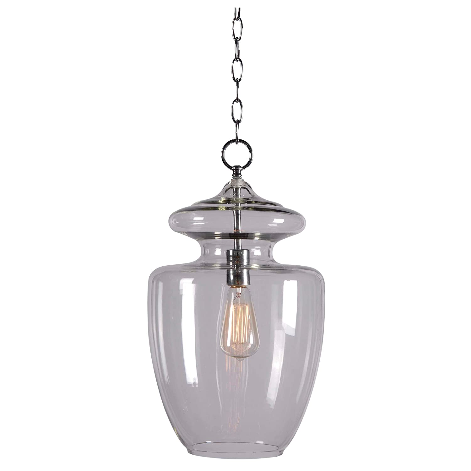 Kenroy Home Kenroy Home 93037CLR Apothecary 1 -Light Pendant - Ceiling  Pendant Fixtures - Amazon.com - Kenroy Home Kenroy Home 93037CLR Apothecary 1 -Light Pendant