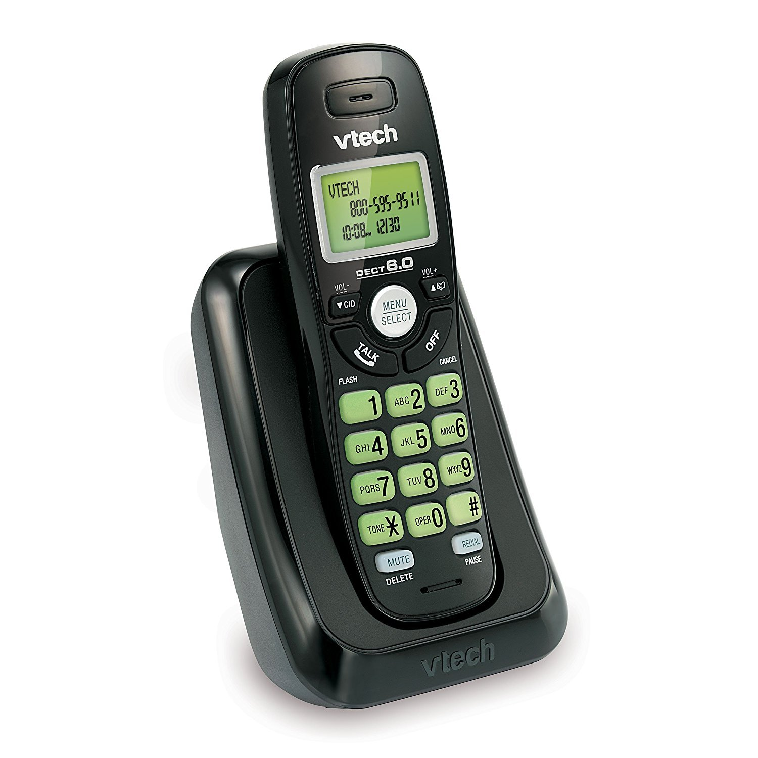 VTech VA17141BK DECT 6.0 Cordless Phone with Caller ID, Wall-Mountable, Black by VTech