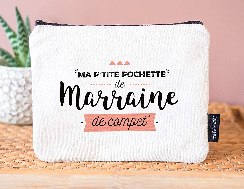 Pochette LOL Beige paillet/ée Ma Marraine ch/érie et Pompon