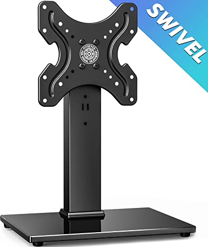 FITUEYES Universal TV Stand Tabletop TV Base with Swivel Mount for 19-39 inch Flat Screen TvsTT104001GB