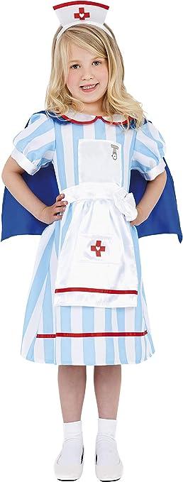 Smiffys - Disfraz de Enfermera para niña, Talla S (38646S ...