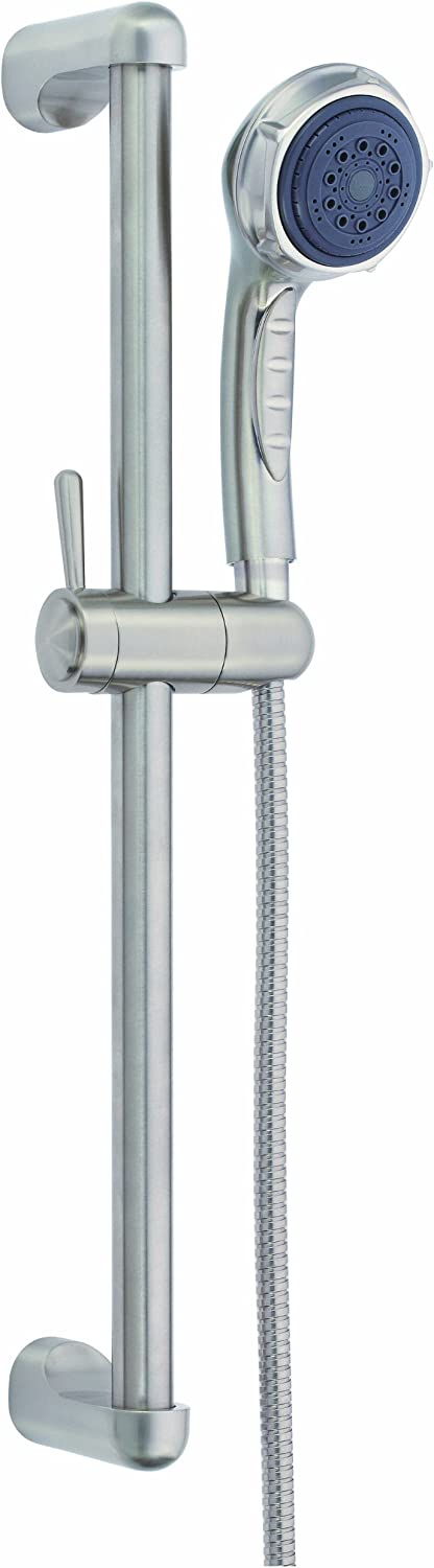 Brushed Nickel Danze D465005BN Three Function Hand Shower with 24-Inch Slide Bar